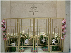 Aaliyah Haughton buried at Ferncliff Cemetery in Hartsdale, New York