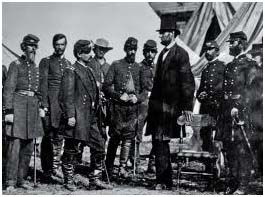 Lincoln with military