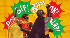 Batman and Robin fighting scenes