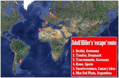 Hitler's supposed escape route