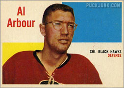 Al Arbour on the Chicago Black Hawks