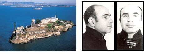 Al Capone Mug Shot and picture of Alcatraz