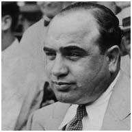 Al Capone with scar on his face