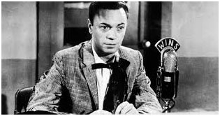 Alan Freed playing music for WINS in New York