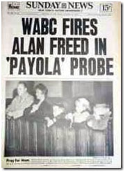 newspaper report of Alan Freed getting fired