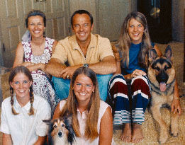 Alan Shepard with wife and kids