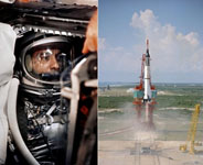 Alan Shepard,  piloting the Freedom 7 mission