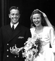 Alan Shepard with his wife