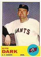Alvin Dark managing the Giants