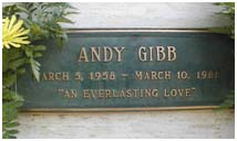 Andy Gibb's headstone