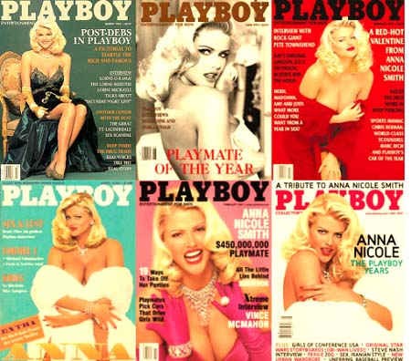 Anna Nicole Smith on cover of playboy magazine