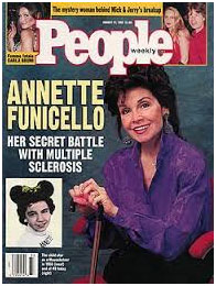 Annette Funicello on the cover of People magazine