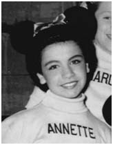 Annette Funicello while on Mickey Mouse Club