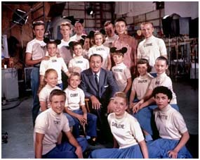 Walt Disney with the  Mickey Mouse Club