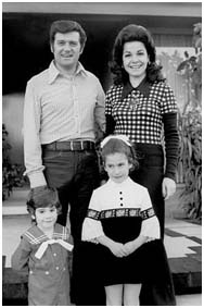 Annette Funicello with her children