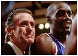 Anthony Mason with Pat Riley