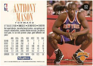 Anthony Mason basketball card