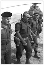 Ariel Sharon during the 1982 invasion of Lebanon