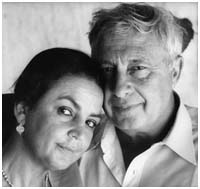 Ariel Sharon with his 2nd wife, Lily