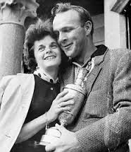 Arnold Palmer with his first wife