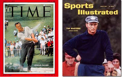 Arnold Palmer on cover of TIME and Sports Illustrated magazines