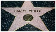 Barry White star on Hollywood's Walk of Fame