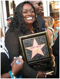 Barry White star on Hollywood's Walk of Fame awarded to his widow