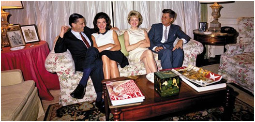 Ben Bradlee with the Kennedy's