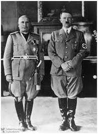 Benito Mussolini with Adolph Hitler