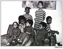 Betty Shabazz and her six daughters