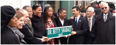 Dr. Betty Shabazz Way street sign