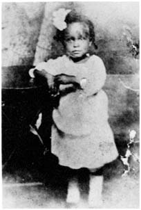 Billie Holiday at age two and a half