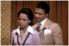 Billy Dee Williams playing Billie Holiday's husband