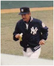 Billy Martin managing the Yankees