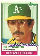Billy Martin as manager of the Oakland A's