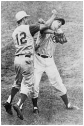 Billy Martin fighting with Jim Brewer