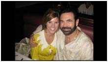 Billy Mays with second wife Deborah