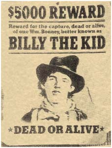 Bill The kid wanted poster
