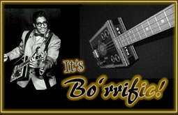 Bo Diddley performing