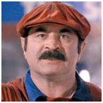 Bob Hoskins in Super Mario Brothers