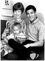 Brandon Lee baby photo with his mother and father