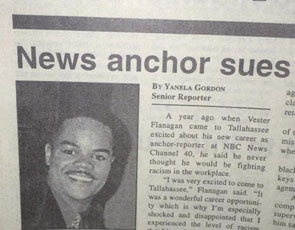 Bryce Williams newspaper report of law suit