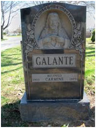 Carmine Galante buried at St. John's Cemetery in Middle Village, Queens