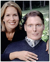 Christopher Reeve with his wife