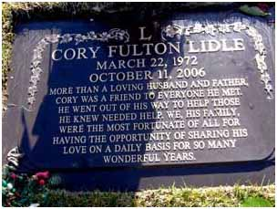 Cory Lidle buried in Forest Lawn Memorial Park in Covina, California