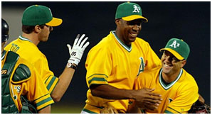 Corey Lidle on Oakland A's in 2002