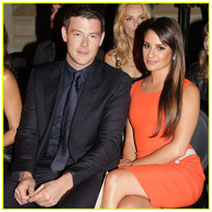Corey Monteith with Lea Michelle