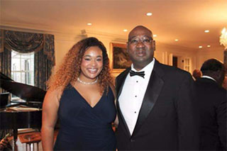 Cortez Kennedy with his daughter