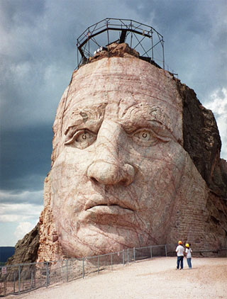 Crazy Horse memorial up close