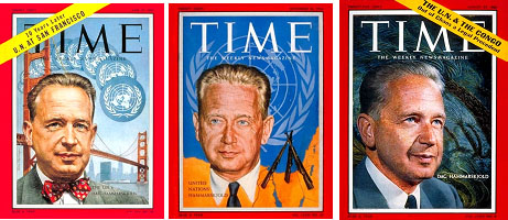 Dag Hammarskjold on cover of TIME Magazines